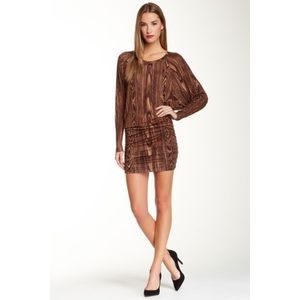 BCBG Olive Knit Long Sleeve Mini Dress - XS